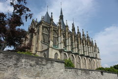 st kutna hora церков Барвары стоковая фотография rf
