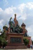 St. la catedral de la albahaca en Plaza Roja en Moscú, Rusia Imágenes de archivo libres de regalías