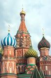St la catedral de la albahaca en Plaza Roja en Moscú Rusia Imágenes de archivo libres de regalías