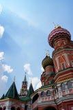 St la cattedrale del basilico sul quadrato rosso a Mosca, Russia Fotografie Stock Libere da Diritti