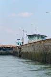St. Lambert Locks de la estación del control de tráfico Imagenes de archivo