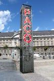 St Lambert Square, Liège de connexion de Paco Photographie stock libre de droits