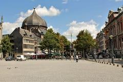 St Lambert Square Liege Belgium Imagenes de archivo
