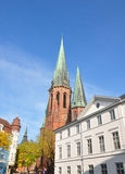 St Lamberti Kerk in Oldenburg, Duitsland stock foto