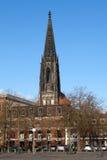St Lamberti kościół w Muenster Zdjęcia Stock