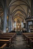 St. Lambertus Church Dusseldorf royalty free stock image