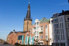 St Lambertus church is Roman Catholic church in Dusseldorf histo Stock Image