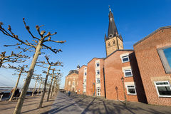 St Lambertus church is Roman Catholic church in Dusseldorf histo Royalty Free Stock Photo