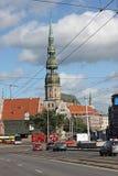 st latvia peter riga s церков Стоковая Фотография