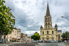 St.Laud church in Angers. ANGERS, FRANCE - AUGUST 25,2014 - St.Laud church in Angers. Angers is the historical capital of Anjou and was for centuries an Royalty Free Stock Image