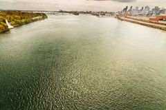 St Laurence river at Montreal Old Port Stock Photography