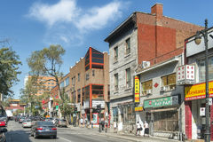St-Laurent street Chinatown, Montreal Stock Photo