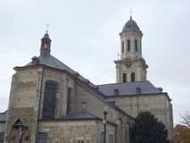 St Laurentius教会-洛克伦-比利时 免版税库存照片