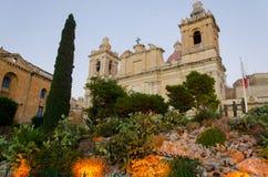 St Lawrance katedra w Vittoriosa (Birgu) Zdjęcie Royalty Free