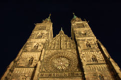 St. Lawrence's Church by night. In Nuremberg, Germany Stock Photography