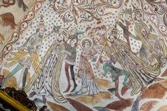 ST Lawrence και ο παπάς Mural ζωγραφική από το 1400s Στοκ φωτογραφίες με δικαίωμα ελεύθερης χρήσης