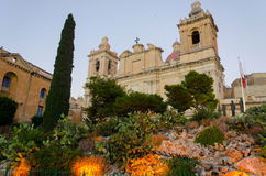 St Lawrence Cathedral in Vittoriosa (Birgu) Royalty-vrije Stock Foto