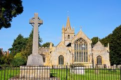St Lawrence Church, Evesham. Royalty Free Stock Images