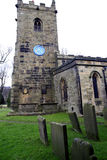 St. Lawrence church, Eyam, Derbyshire. The parish church of Saint Lawrence in the Plague village of Eyam, Derbyshire, England, UK Royalty Free Stock Photos
