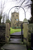 St. Lawrence church, Eyam, Derbyshire. Saint Lawrence parish church in the plague village of Eyam, Derbyshire, England, UK Royalty Free Stock Image