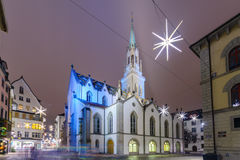 St Lawrence Church i St Gallen Royaltyfri Foto