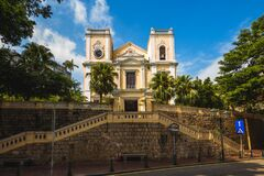 Free St. Lawrence Church In Macau, China Stock Images - 216761894