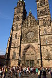 St Lawrence church (LORENZKIRCHE) in Nuremberg, Germany Royalty Free Stock Photos
