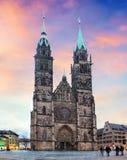 St. Lawrence church - Nuremberg, Germany.  Stock Photo