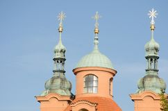 St lawrence church towers Petrin Stock Photography