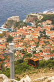 St. Lawrence Fortress en Oude stad van Dubrovnik royalty-vrije stock foto