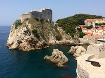 St. Lawrence fortress. (Lovrijenac) in Dubrovnik, Croatia Royalty Free Stock Photography