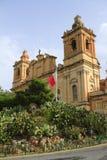 St Lawrence Kirche, Malta Lizenzfreie Stockbilder