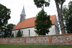 St Lawrence Lutheran Church in Nõo, Tartu, Estland Stock Afbeeldingen