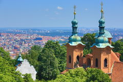 St. Lawrence, Moldau, Panorama of Prague, Czech Republic Royalty Free Stock Photo