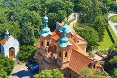 St. Lawrence, Panorama von Prag, Tschechische Republik Lizenzfreie Stockfotografie