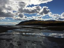 St-Lawrence river. At Baie-St-Paul stock photography