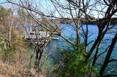 St Lawrence River em Canadá Fotografia de Stock