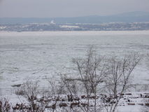 St. Lawrence River. From Levis, Quebec - Canada Royalty Free Stock Photo