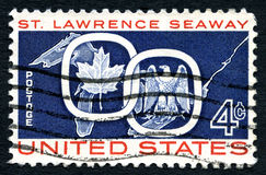 St. Lawrence Seaway USA Postage Stamp Royalty Free Stock Photography