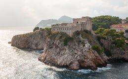 St- Lawrencefestung in Dubrovnik, Kroatien lizenzfreies stockbild