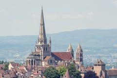 St Lazare, Francia della cattedrale Immagine Stock Libera da Diritti
