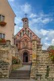 St Leo kaplica, Eguisheim, Alsace, Francja Zdjęcia Royalty Free