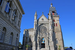 St Leonard Church, Fougeres Immagine Stock