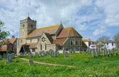 St Leonard`s Church, Seaford, Sussex. Although Seaford is not mentioned in the 1086 Domesday Book, St Leonard`s church is thought to have started soon after the stock images