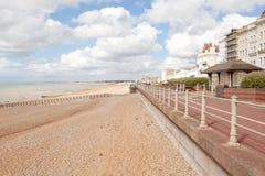 St Leonards strand nära Hastings, östliga Sussex, England arkivfoto