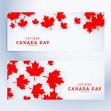 1st Lipa Canada dnia sztandary Obrazy Royalty Free
