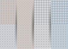 St?ll in av 6 abstrakta s?ml?sa rutiga geometriska modeller Bl? geometrisk ackground f?r vektor f?r tyger, tryck, barns kl?der fotografering för bildbyråer