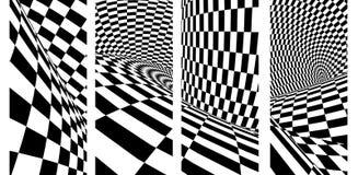 St?ll in av baner med den geometriska rutiga modellen vektor illustrationer