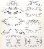 St?ll in av calligraphic ramar f?r vektorn f?r design royaltyfri illustrationer
