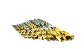 St?ll in av olika format f?r drillborrbitar f?r tr? och betong arkivfoton